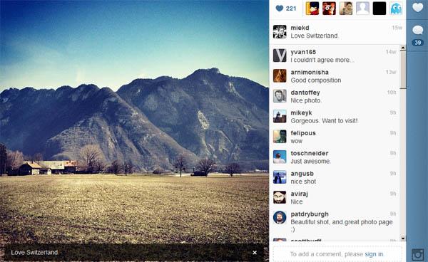 Novidades no site do Instagram (Foto: Reprodução)