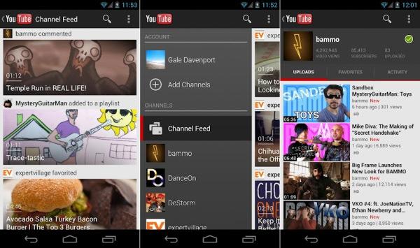 Novo YouTube chega agora ao Android 4.0 (Foto: Reprodução)