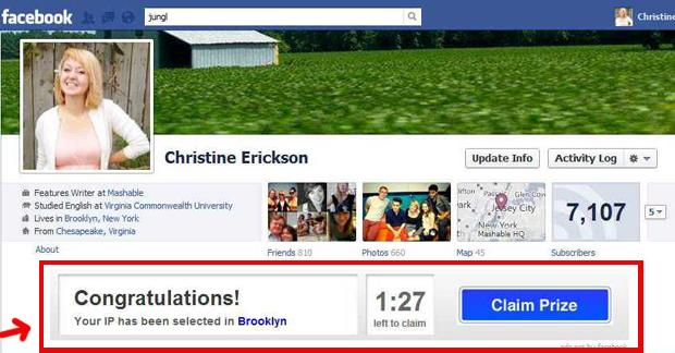 Publicidade na timeline de uma usuária do Facebook (Foto: Reprodução)