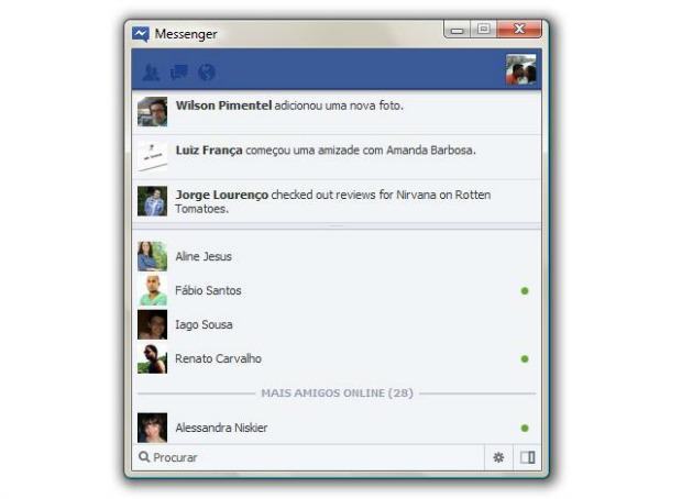 Menu é bem semelhante ao site do Facebook (Foto: Reprodução)
