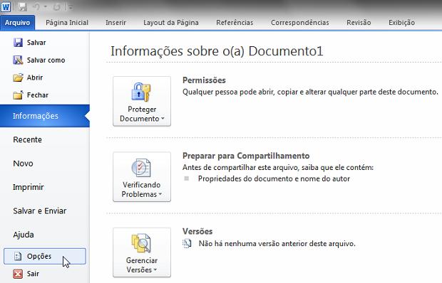 Como mudar o formato padrão do Office 2010 | Dicas e