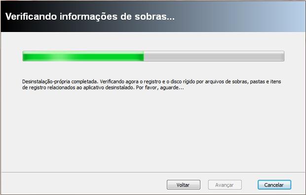 O Rev Uninstaller rodará uma verificação do disco rígido para eliminar possíveis sobras do programa (Foto: Reprodução/Júlio Monteiro)