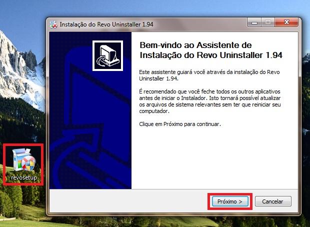 Para instalar o Revo Uninstaller basta selecionar o arquivo de instalação e completar o setup (Foto: Reprodução/Júlio Monteiro)