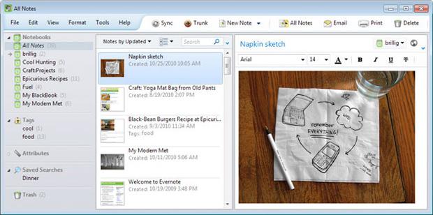Evernote para Windows (Foto: Reprodução)