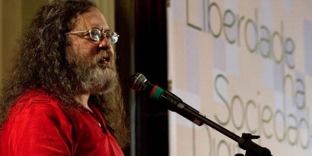 Richard Stallman lança o FISL 13 (Foto: Divulgação)