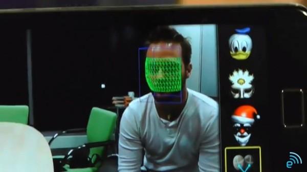 Teste de reconhecimento facial em homem (Foto: Reprodução/Engadget)