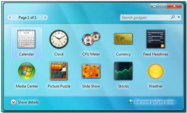 Gadgets criados no Vista podem não ser aceitos no Windows 8 (Foto: Reprodução)