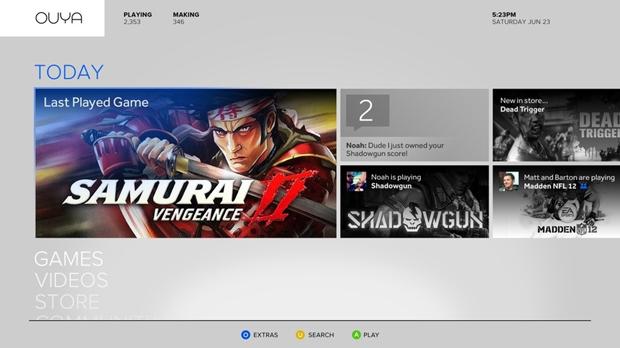 Rede de jogos do Ouya já pode ser vista em imagens (Foto: Divulgação)