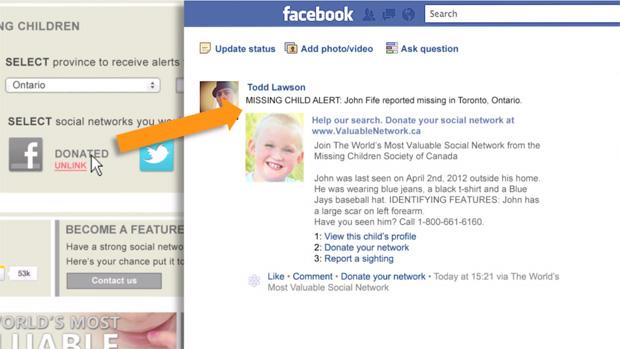 Ferramenta emite alertas no Facebook para auxiliar nas buscar de crianças desaparecidas (Foto: Reprodução)
