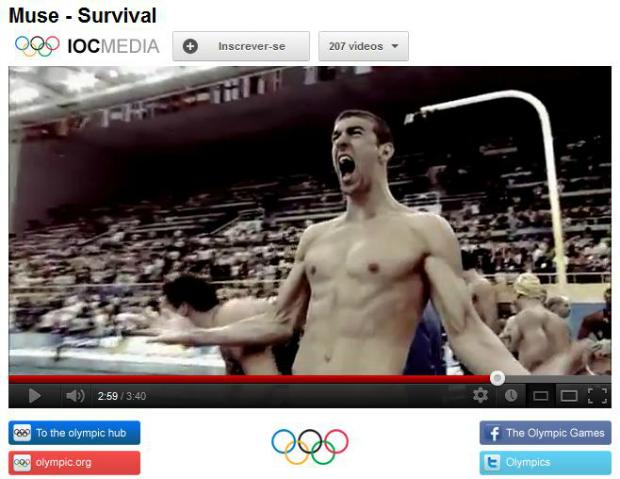 Vídeo do COI tem comemoração inesquecível de Michael Phelps (Foto: Reprodução)