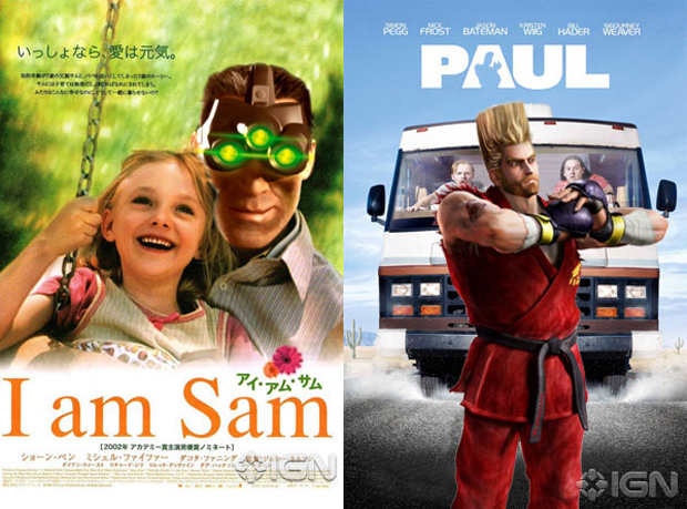 Filmes e personagens de games se misturam em cartazes (Foto: Reprodução)