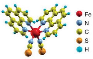 Esquema mostra o átomo de ferro, no centro, protegido pela molécula orgânica (Foto: Reprodução)