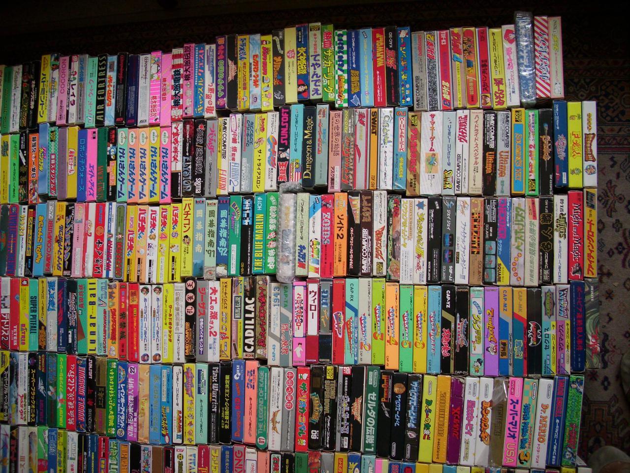 Talvez a maior coletânea de games do mundo (Foto: Reprodução / eBay)