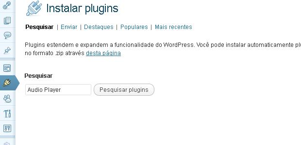Pesquisando o plugin a ser instalado (Foto: Reprodução/Edivaldo Brito)