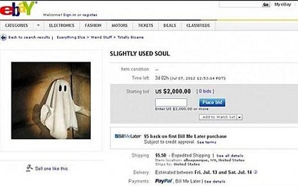 Por 2 mil dólares, mulher coloca própria alma à venda (Foto: Reprodução)