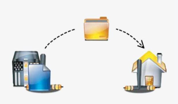 Representação simples do que é um FTP: pasta hospedada por servidor para acesso do cliente (Foto: Reprodução)
