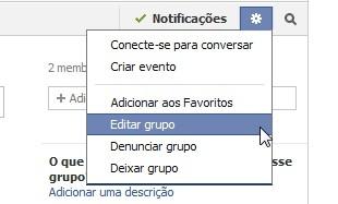 Acessando as configurações de e-mail do grupo (Foto: Reprodução)