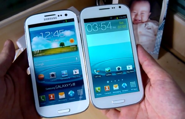 A diferença entre o Samsung Galaxy S III e o xing-ling HDC (Foto: Reprodução)