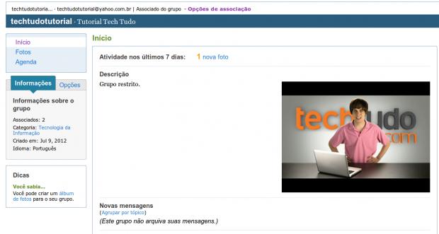 Yahoo! Groups do Tech Tudo (Foto: Reprodução)