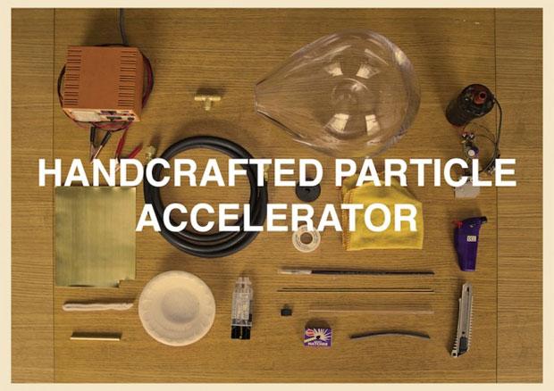 Patrick usou materiais comuns para criar seu próprio acelerador de partículas (Foto: Reprodução)