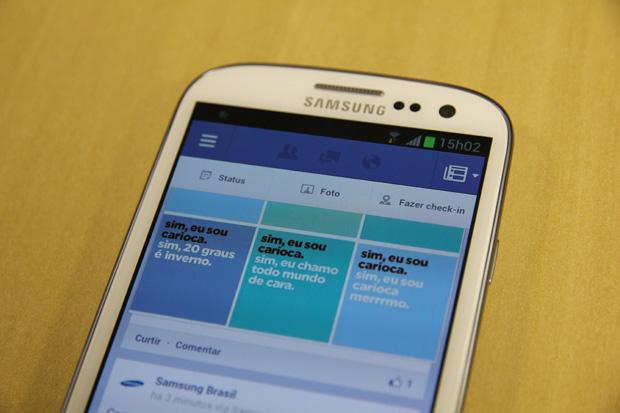 Facebook para Android agora exige a versão 2.2 do sistema (Foto: TechTudo/Marlon Câmara)