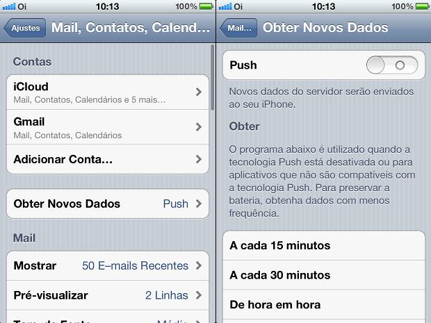 Desativando o push nos e-mails (Foto: Reprodução/Edivaldo Brito)