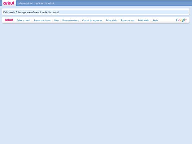 Tela para voltar a participar do Orkut (Foto: Reprodução)