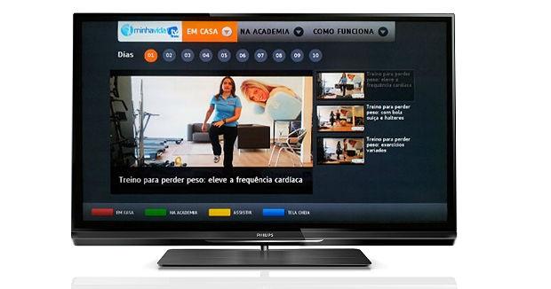 """App """"TV Minha Vida fitness"""" na Smart TV da Philips (Foto: Divulgação)"""