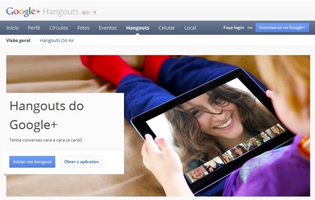 Com o Hangout é possível transmitir uma conversa ao vivo pelo YouTube (Foto: Reprodução)