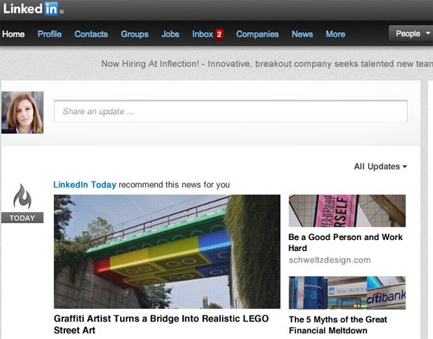 LinkedIn passou por reformulação e ficou mais clean (Foto: Reprodução)