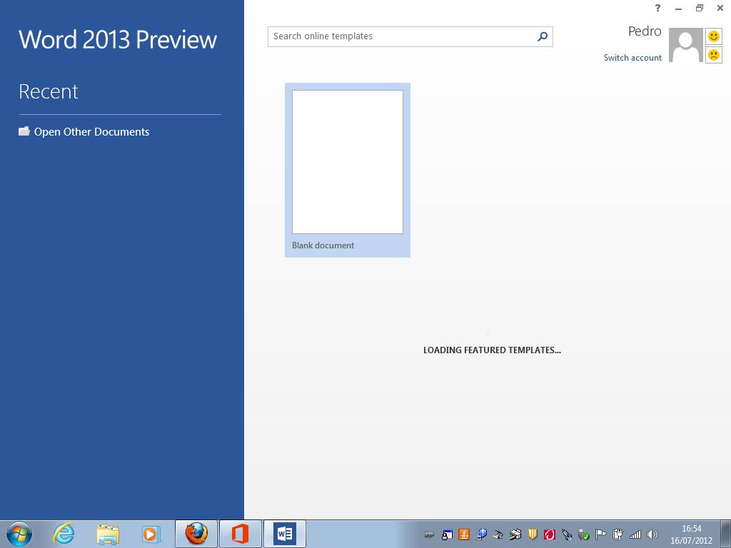 Word 2013 Preview (Foto: Reprodução/TechTudo)
