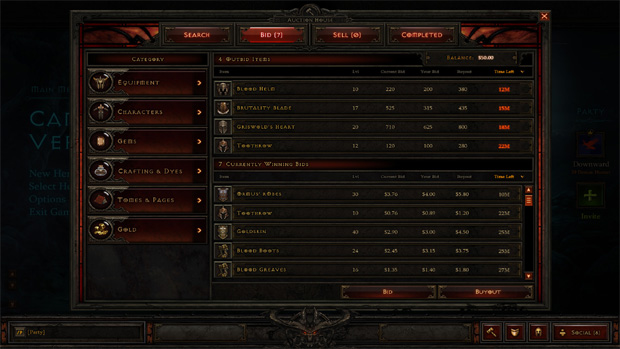 Hack causa mais de US$ 10 mil em prejuízo nos leilões de Diablo 3 (Foto: Still at Spawn)