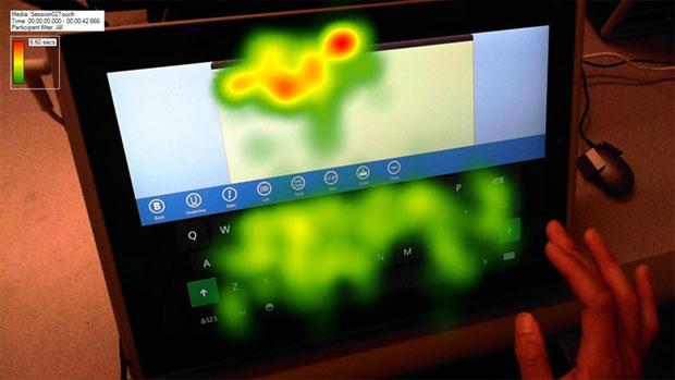 Microsoft fez extensas pesquisas para entender como as pessoas interagem com teclados touch (Foto: Reprodução)