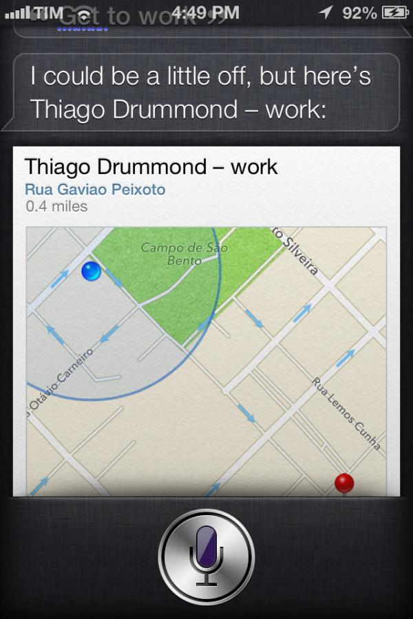 Novo iOS tem direções para mapas do Brasil na Siri (Foto: Mac Magazine)