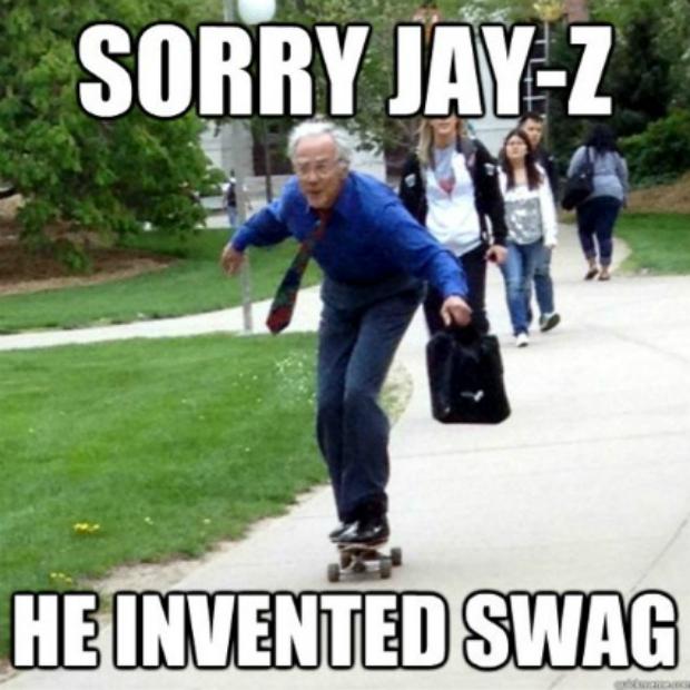 """Desculpa, Jay-Z, mas a combinação skate, mala e gravata é que é """"swag"""" (Foto: Reprodução)"""