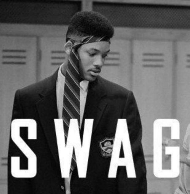 """Will Smith """"personifica"""" o """"swag"""" com gravata na cabeça: haja estilo! (Foto: Reprodução)"""
