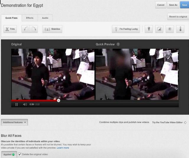 Borrar rostos agora é uma realidade no YouTube (Foto: Reprodução)