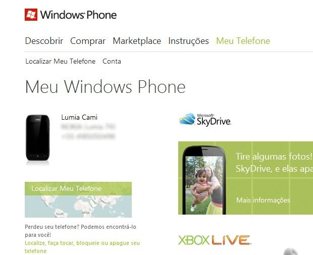 como localizar meu celular no windows phone