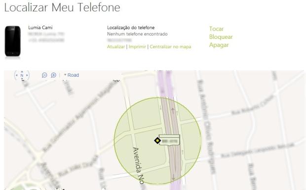 Dispositivo exibido em um mapa (Foto: Dispositivo exibido em um mapa)