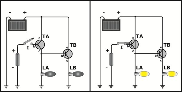 Circuito Transistor : Controlando um transistor com outro artigos techtudo
