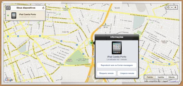 Capturas de tela do iPhone