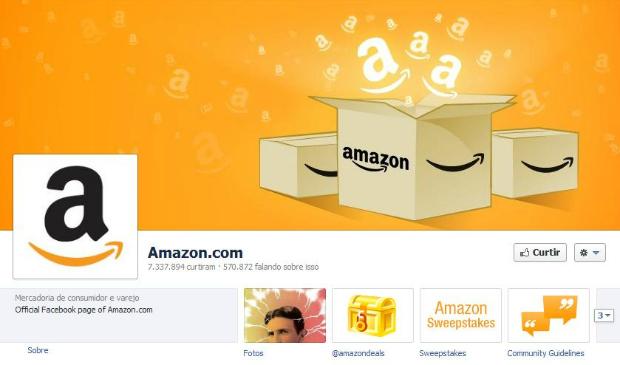 Amazon é um sucesso no Facebook (Foto: Reprodução)