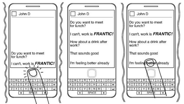Patente emocional da RIM funciona de maneira um tanto quanto curiosa (Foto: Reprodução)