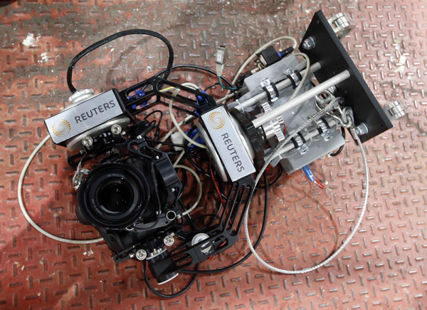 Câmera-robô desenvolvida pela Reuters