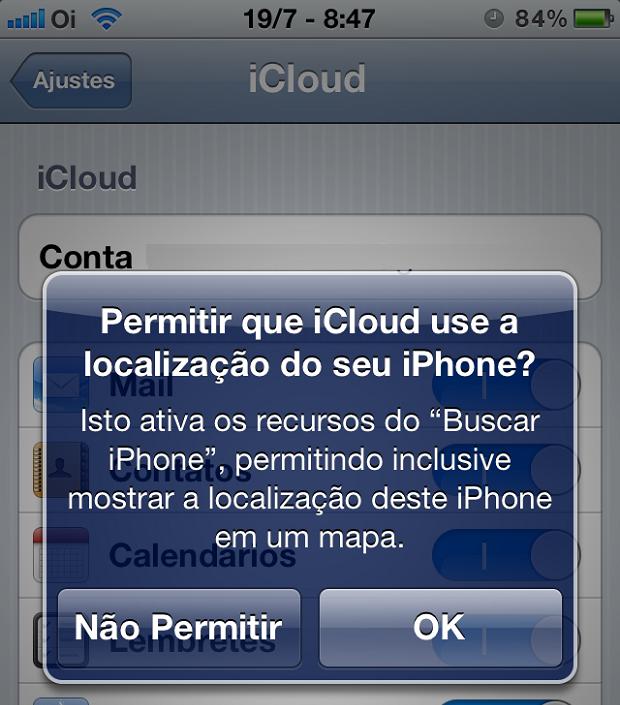 Responda se deseja que o ativar a localização do iPhone (Foto: Reprodução/Edivaldo Brito)