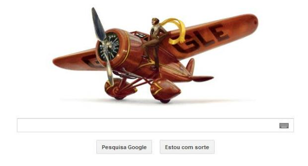 Doodle desta terça traz homenagem à aviadora americana (Foto: Reprodução)