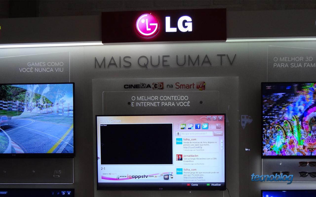 LG lança novos modelos Smart TVs LED 3D no Brasil (Foto: Reprodução/Tecnoblog)