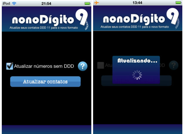 Nono Dígito SP: captura de tela do iPhone (Foto: Divulgação)