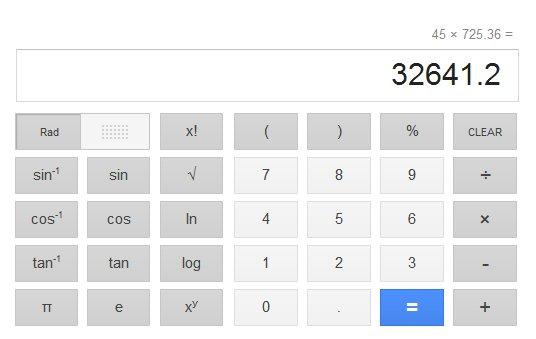 Busca do Google ganha calculadora (Foto: Reprodução)
