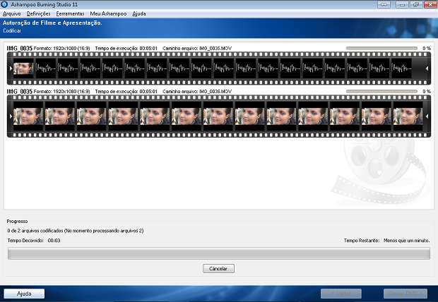 Preparando o filme para a montagem e gravação do DVD (Foto: Reprodução/Edivaldo Brito)